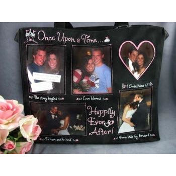 Happily Ever After Fun Personalized Photo Wedding Tote