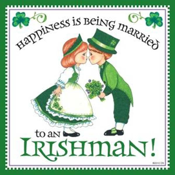 Happiness Married to Irish Magnet Wedding Gift