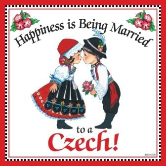 Happiness Married to a Czech Magnet Wedding Gift