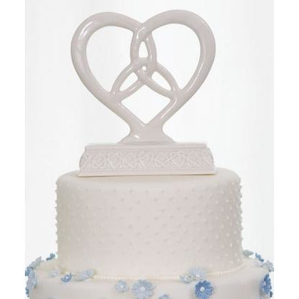 Heart Framed Trinity Knot Cake Top