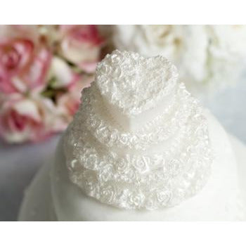 Heart Wedding Cake Candle Favor