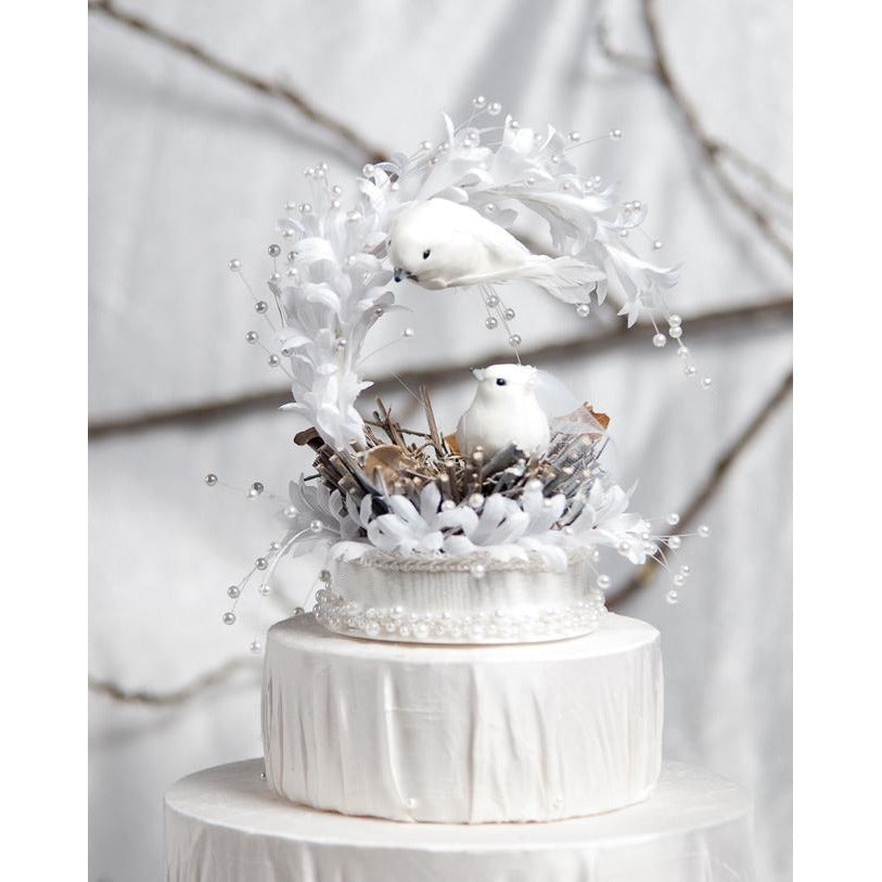 Heavenly Love Nest Cake Topper