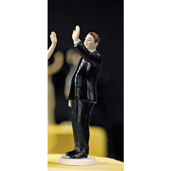 High Five - Groom Figurines