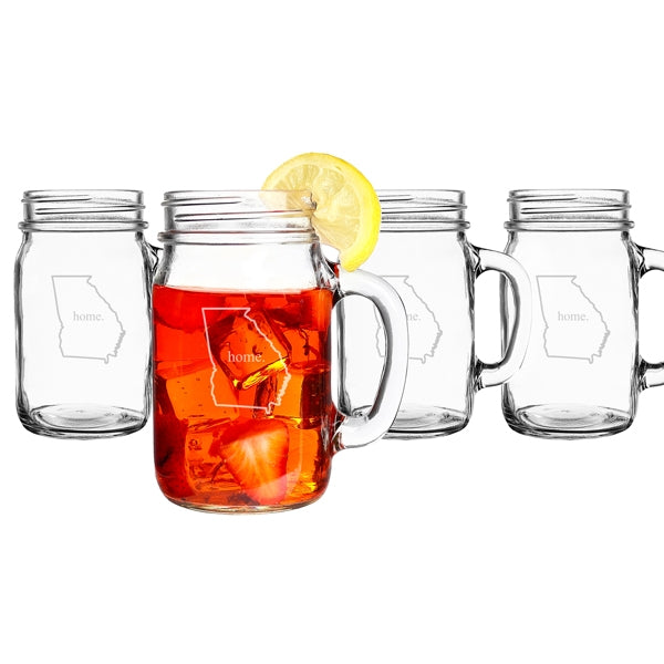 Home State Old Fashioned Drinking Jars (Set of 4)