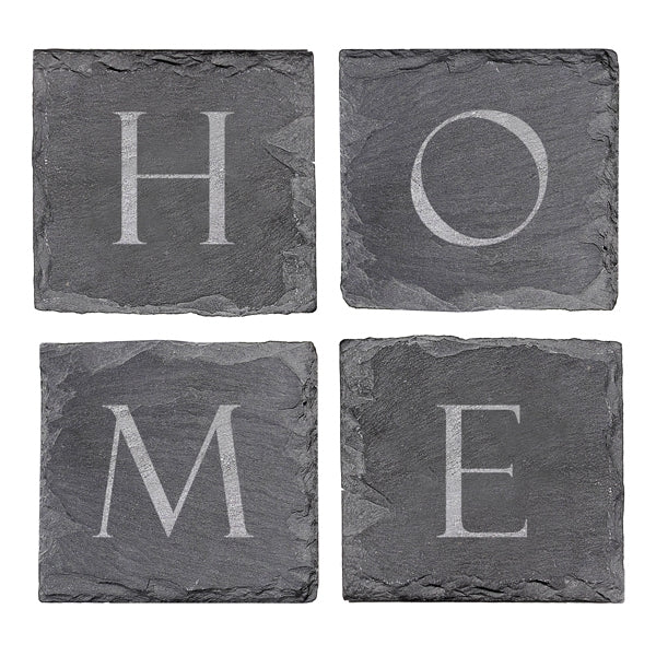 Home Sweet Home Slate Coasters (Set of 4)