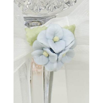 Hydrangea Bouquet Wedding Toasting Glasses