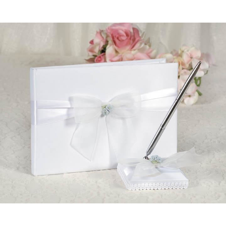 Hydrangea Wedding Guestbook and Pen Set