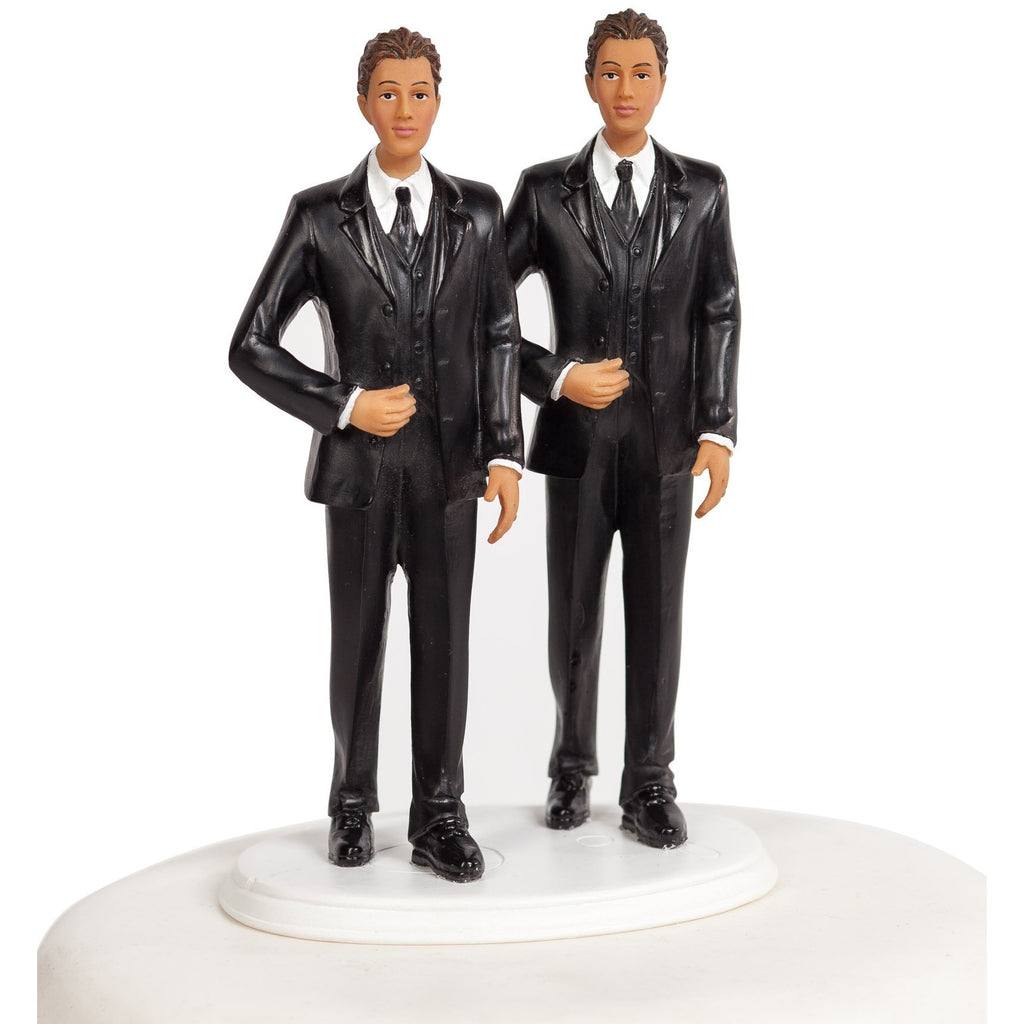 Dark Skin Gay Wedding Cake Topper