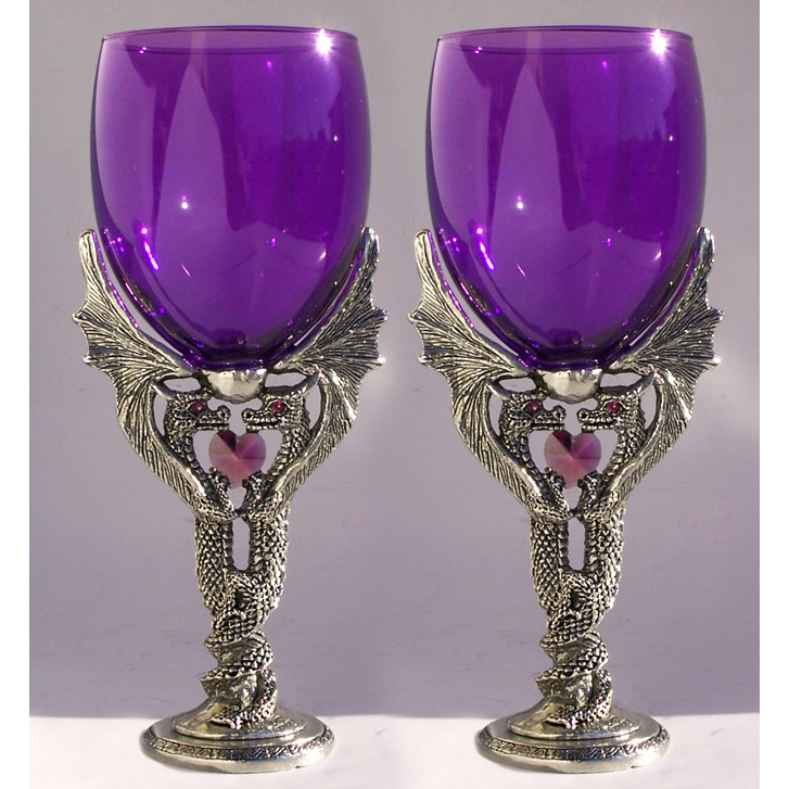 Dragon Passion Wine Wedding Toasting Glasses Set (2 Glasses)