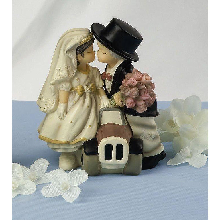 Kim Anderson's Pretty as a Picture ® Bride & Groom Car Figurine