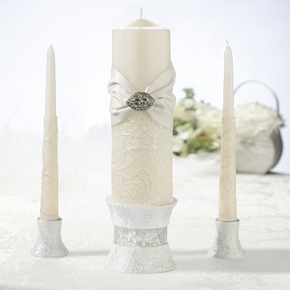Lace Taper and Candle Set