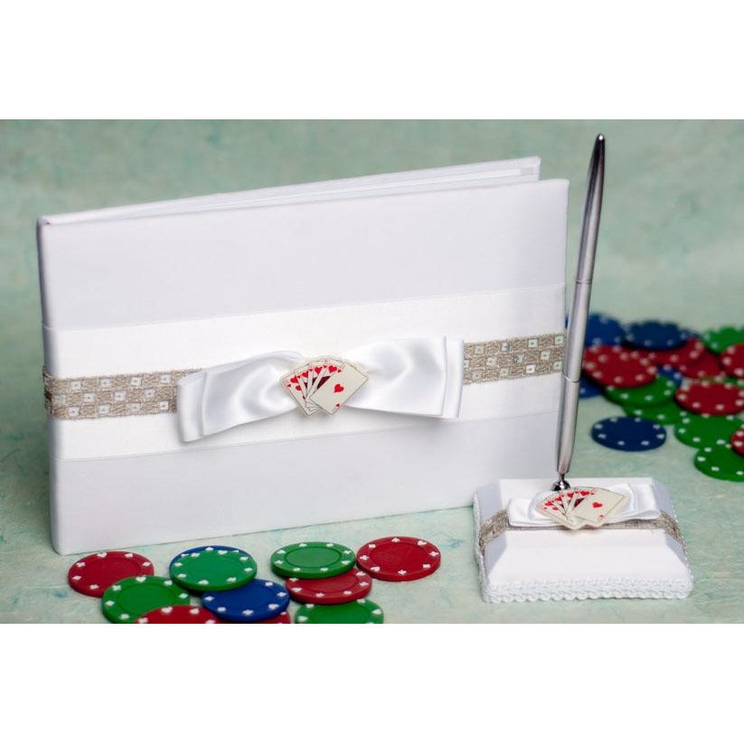 Las Vegas Wedding Guestbook and Pen Set