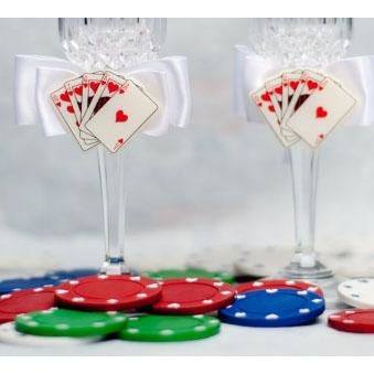 Las Vegas Wedding Toasting Glasses