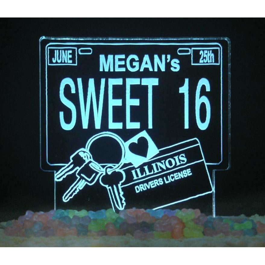 Legal To Drive 16 Light-Up Caketopper