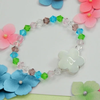 Little Girl's Flower Charm Bracelet