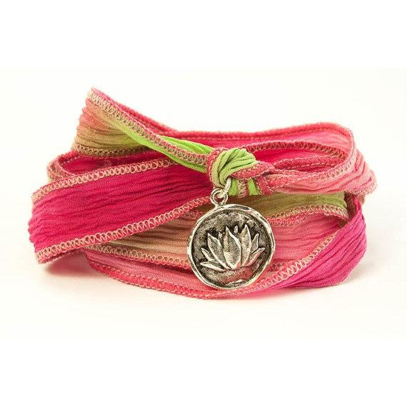 Lotus Jewelry, Silk Wrap Bracelet