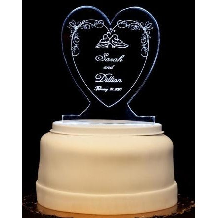 Love Birds Light-Up Wedding Cake Topper