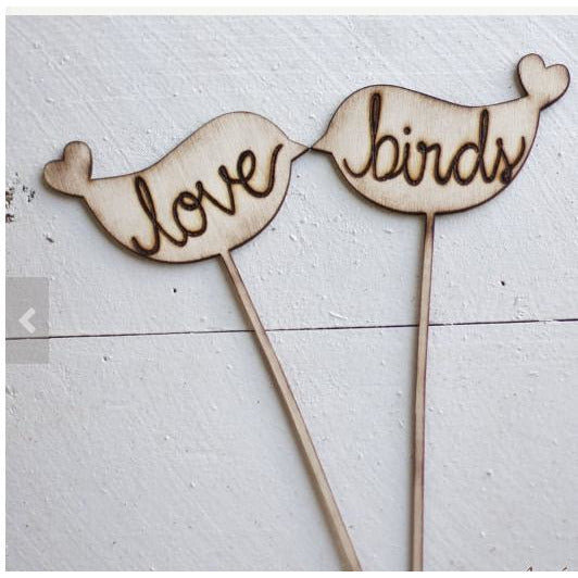 Love Birds Wedding Cake Topper Rustic Wedding Decor