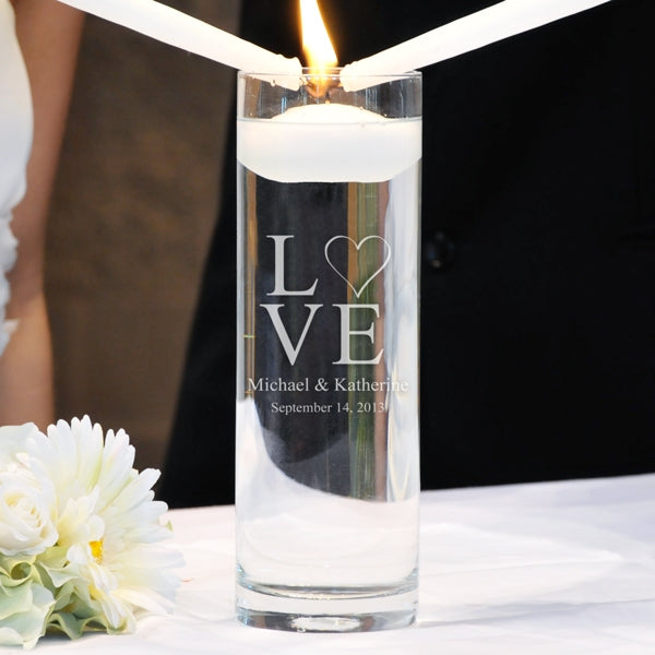 Love Collection Floating Unity Candles (2 Designs Available)