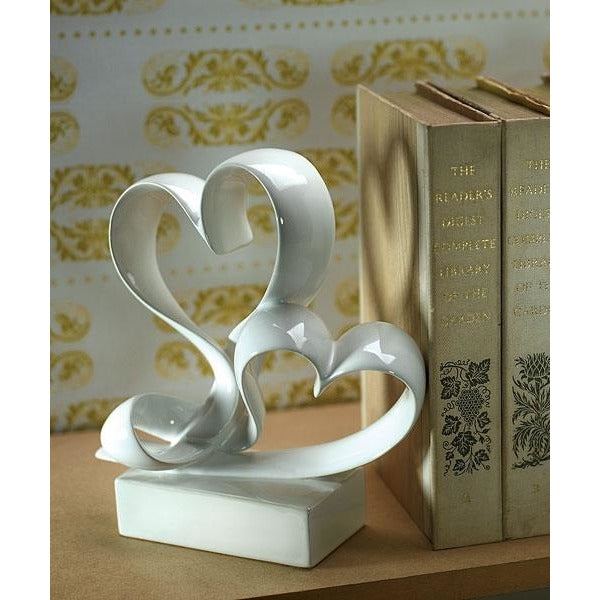 Love Link Stylized Heart Cake Topper