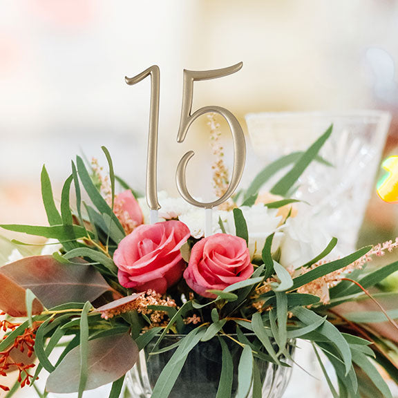 Gold Script Number Monogram Cake Topper (Numbers 0-9)