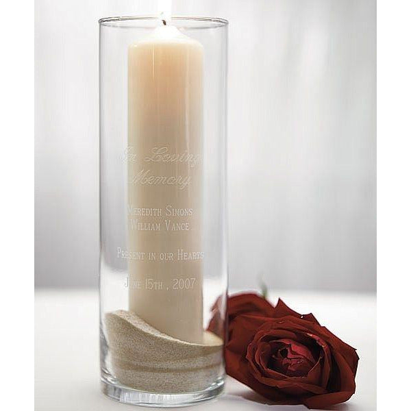 Memorial Glass Cylinder