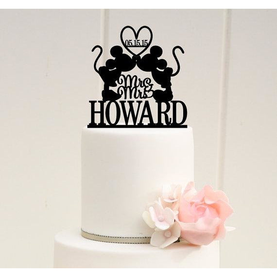 Mickey & Minnie Mr and Mrs Wedding Cake Topper