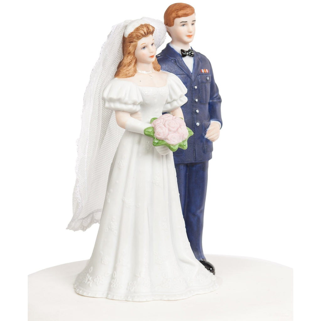Military Air Force Wedding Cake Topper Figurine