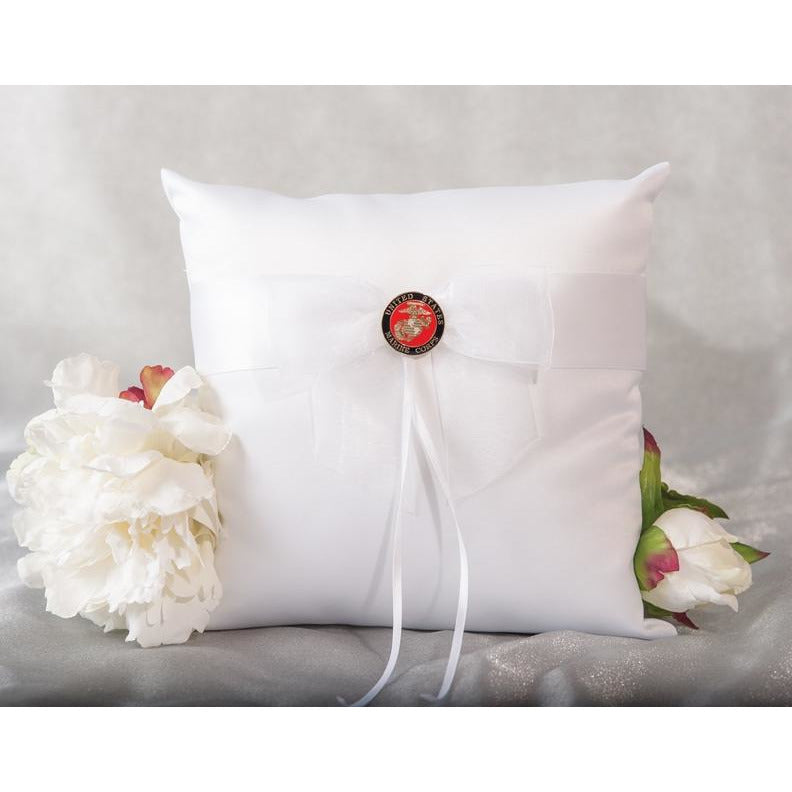 Military Wedding Ring Bearer Pillow Air Force - Navy - Army - Marines