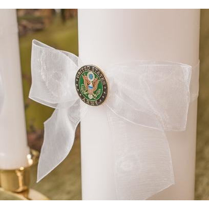 Military Wedding Unity Candle and Taper Set - Air Force - Navy - Army - Marines