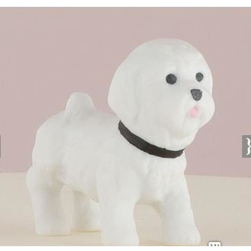 Miniature Bichon Frise Dog Figurines
