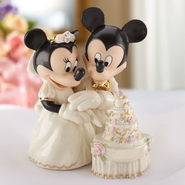 Minnie's Dream Wedding Cake Disney Wedding Cake Topper Figurine - Lenox