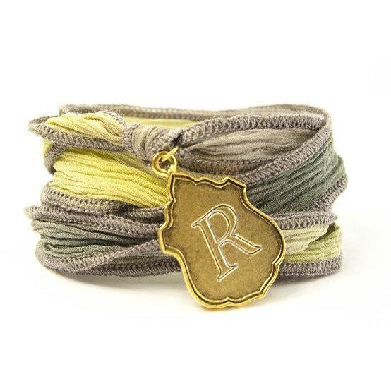 Monogram Crest Jewelry, Silk Wrap Bracelet