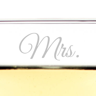 Mrs. & Mrs. Champagne Coupe Toasting Flutes
