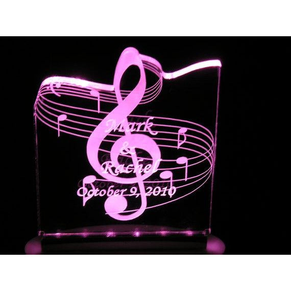 Music Wedding Light-Up Cake Topper