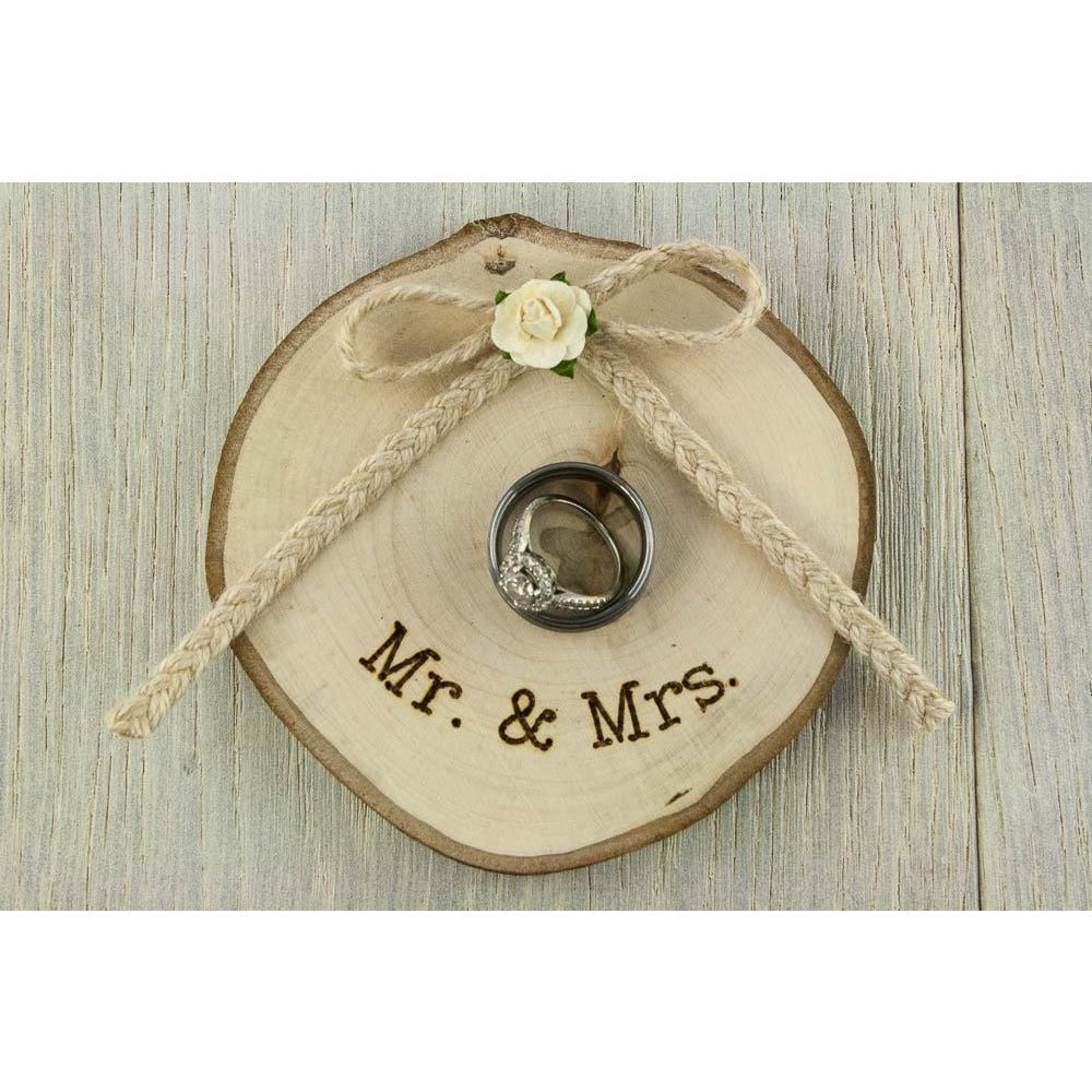 Rustic Wooden Wedding Ring Bearer Pillow