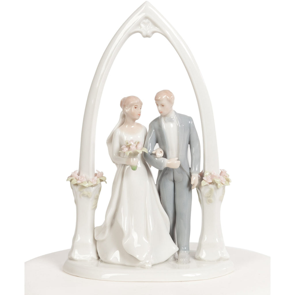 Newly Wed Bride and Groom Cake Topper