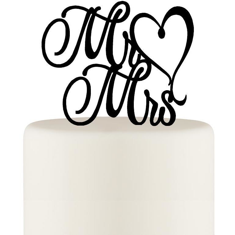 Original Wedding Cake Topper Mr and Mrs Topper Heart Design