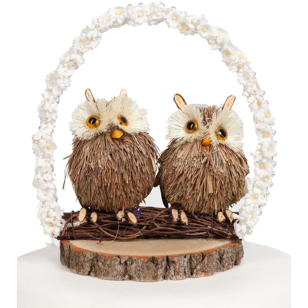 Owl Arch Wedding Cake Topper