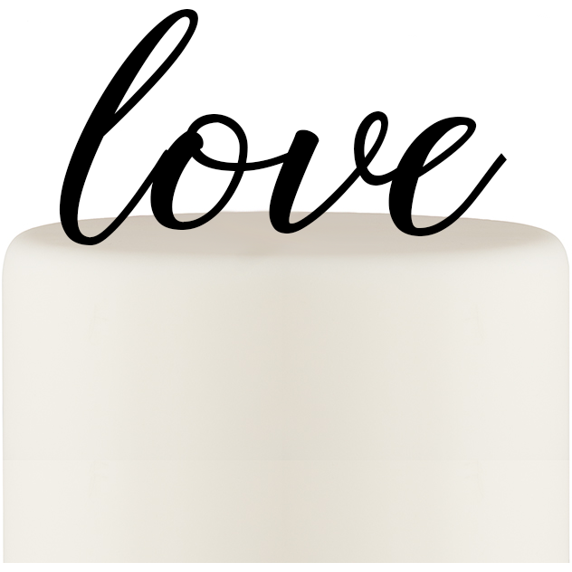 LOVE Cake Topper Custom Design
