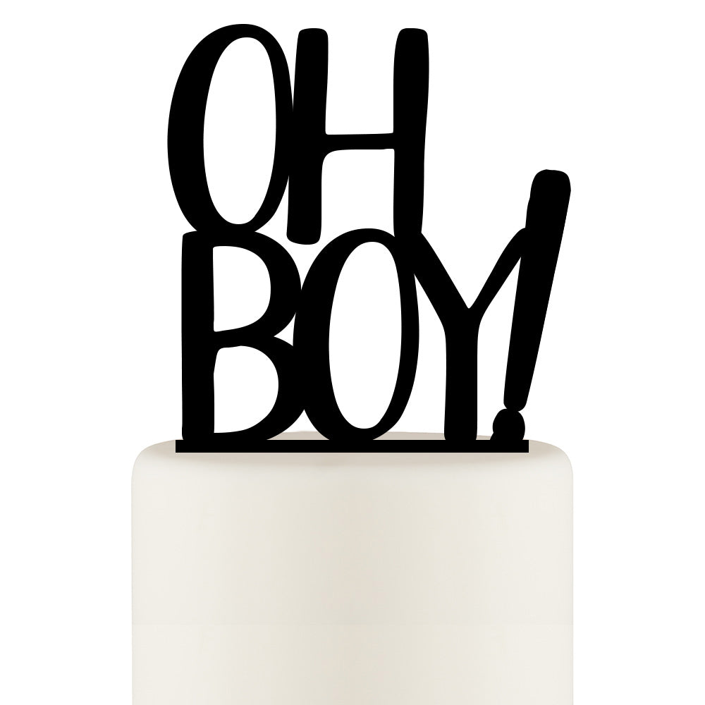 Oh Boy Baby Shower Cake Topper - Gender Reveal Party Cake Topper