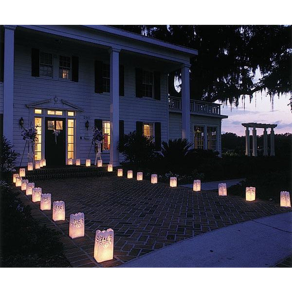 Paper Lantern Wedding Luminaries Decorations - Set of 12