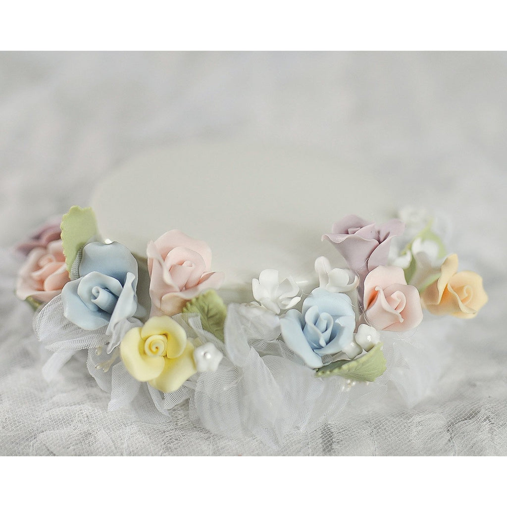 Pastel Rose  DIY Cake Topper Base