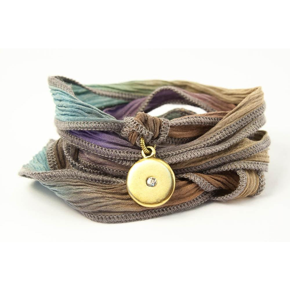 Evil Eye Jewelry, Silk Wrap Bracelet
