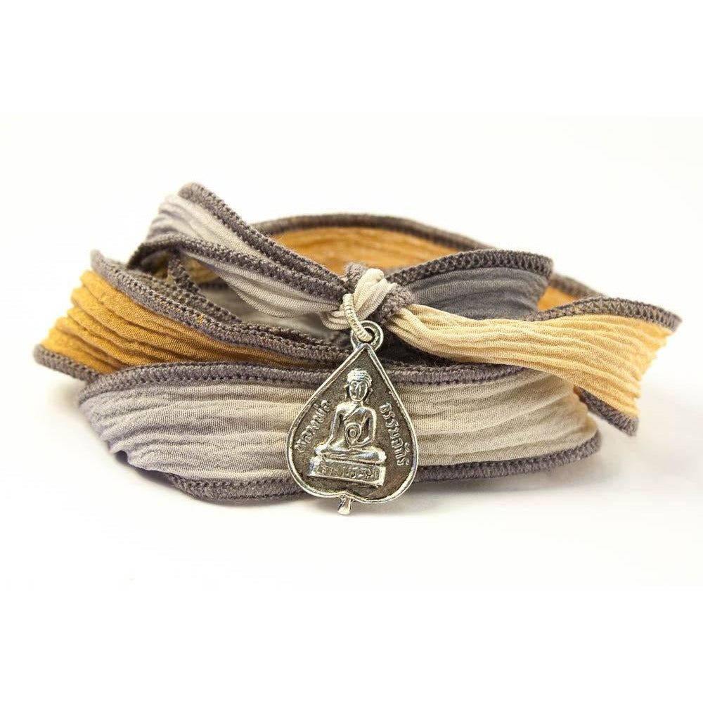 Buddha Jewelry, Silk Wrap Bracelet