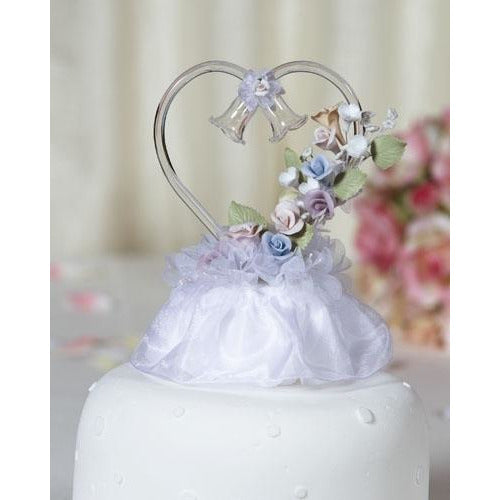 Pastel Porcelain Rose Cake Topper