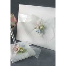 Pastel Rose Wedding Guestbook and Pen Set