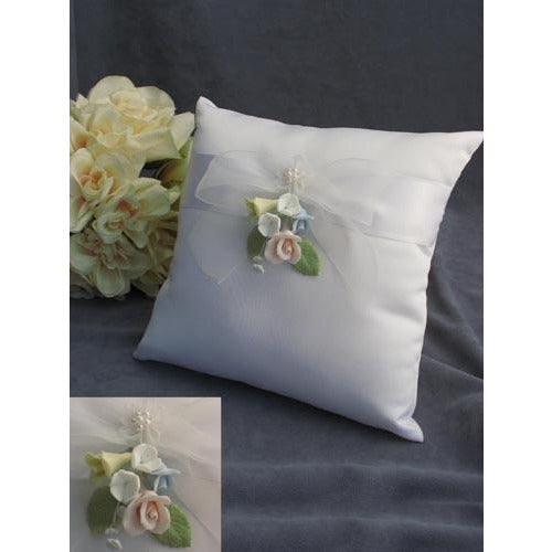 Pastel Rose Wedding Ring Bearer Pillow