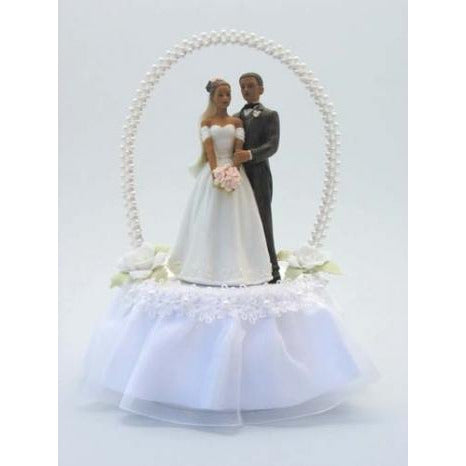 Pearl Arch African American Cake Topper