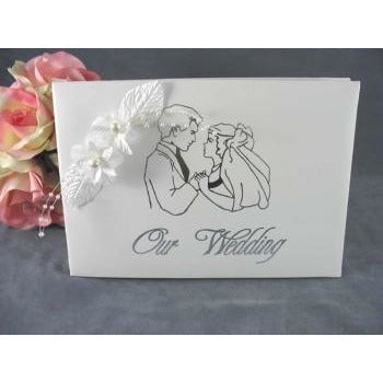 Pearl Flower Wedding Guestbook